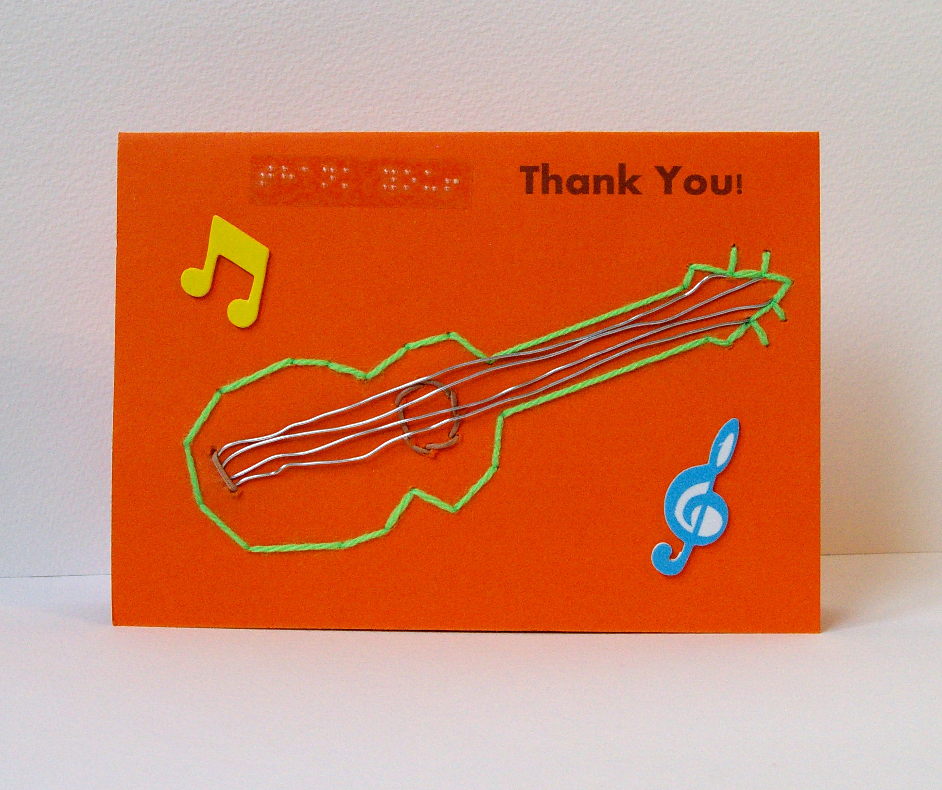 Thank you guitarmusic greetings card arts coaching training thank you kristyandbryce Choice Image